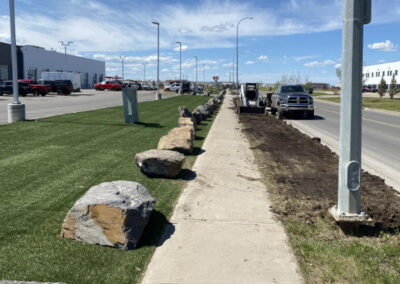 Commercial Road Edge Landscaping